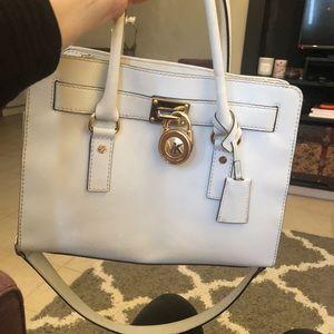 Michael Kors white satchel